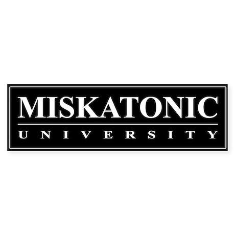 Miskatonic University Bumper Sticker (Black)