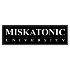 Miskatonic University Bumper Sticker (Black)