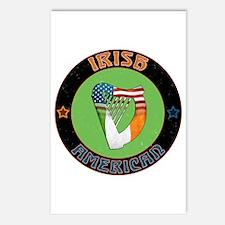 Irish American Harp Postcards (Package of 8)