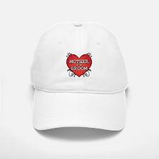Tattoo Heart Mother Groom Baseball Baseball Cap