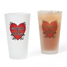 Tattoo Heart Mother Groom Drinking Glass