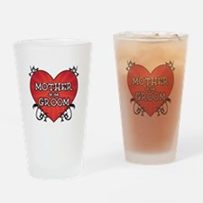 Tattoo Heart Mother Groom Drinking Glass