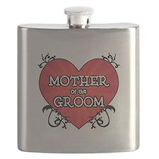 Tattoo Heart Mother Groom Flask