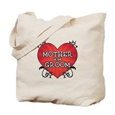 Tattoo Heart Mother Groom Tote Bag
