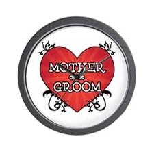 Tattoo Heart Mother Groom Wall Clock
