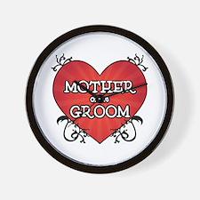 Tattoo Heart Mother Groom Wall Clock