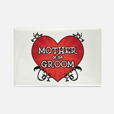 Tattoo Heart Mother Groom Rectangle Magnet