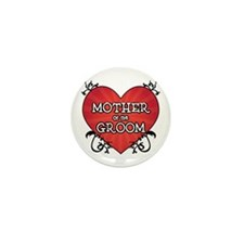 Tattoo Heart Mother Groom Mini Button