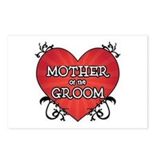Tattoo Heart Mother Groom Postcards (Package of 8)