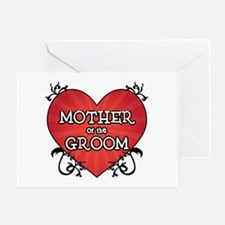 Tattoo Heart Mother Groom Greeting Card