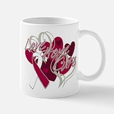 Throat Cancer Love Hope Cure Mug