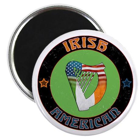"""Irish American Harp 2.25"""" Magnet (100 pack)"""