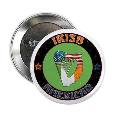 """Irish American Harp 2.25"""" Button (100 pack)"""