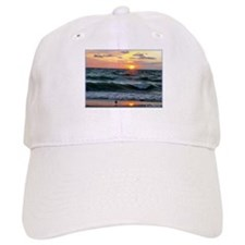 Sunset, seagull, photo! Baseball Cap