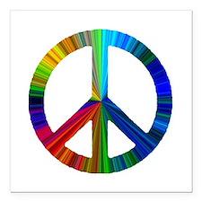 "PEACE sign prism.png Square Car Magnet 3"" x 3"""