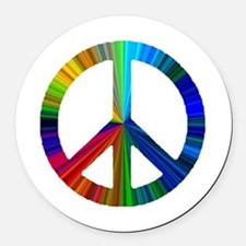 PEACE sign prism.png Round Car Magnet