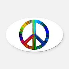 PEACE sign prism.png Oval Car Magnet