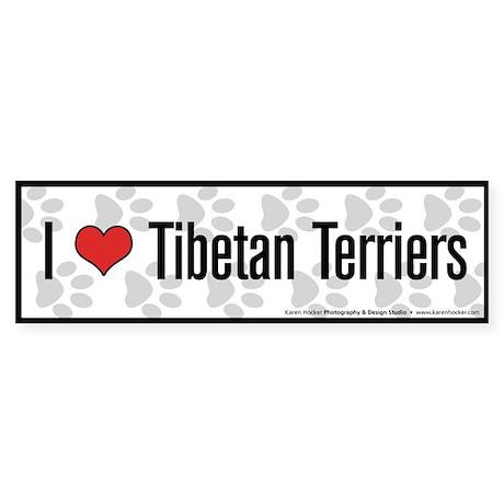 I (heart) Tibetan Terriers Bumper Sticker