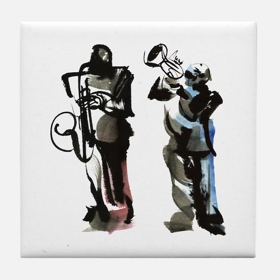 Jazz musicians Tile Coaster