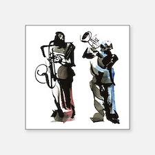 "Jazz musicians Square Sticker 3"" x 3"""