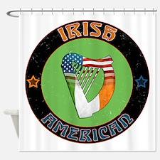 Irish American Harp Shower Curtain