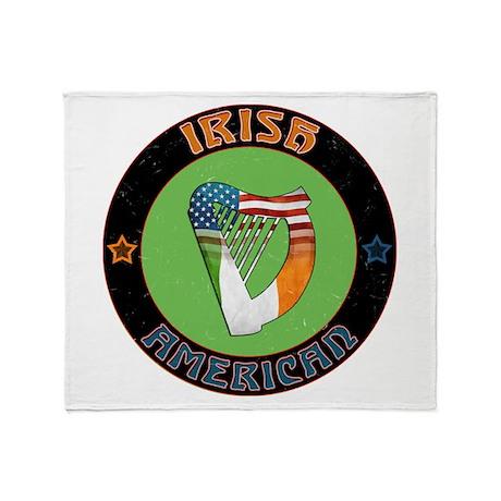 Irish American Harp Throw Blanket