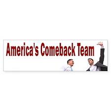Romney-Ryan: Americas Comeback Team Bumper Sticker