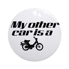 My other car is a Moped Ornament (Round)