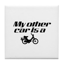 My other car is a Moped Tile Coaster
