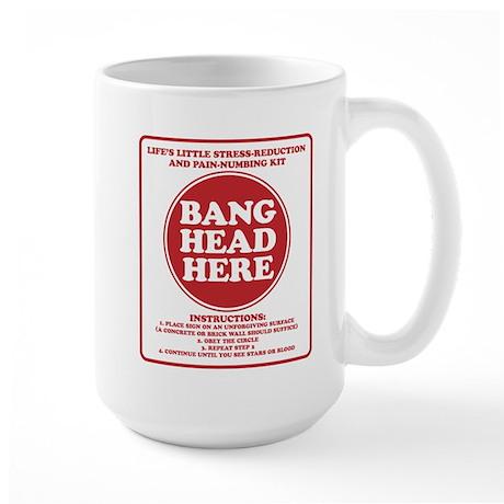 Bang Head Here Stress Reduction Kit Large Mug