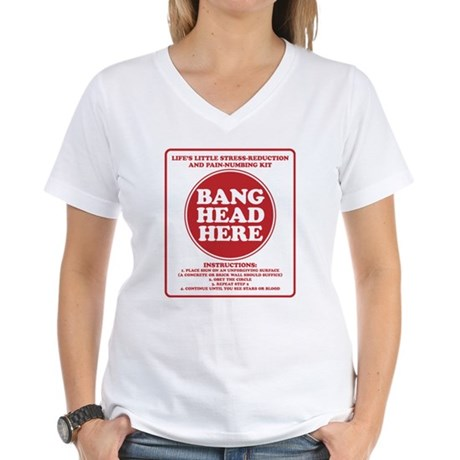 Bang Head Here Stress Reduction Kit Women's V-Neck
