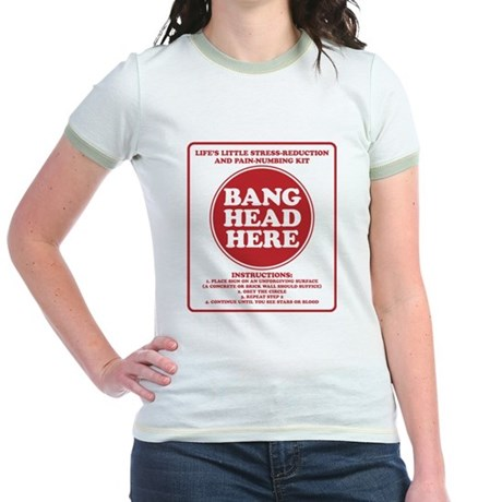 Bang Head Here Stress Reduction Kit Jr. Ringer T-S