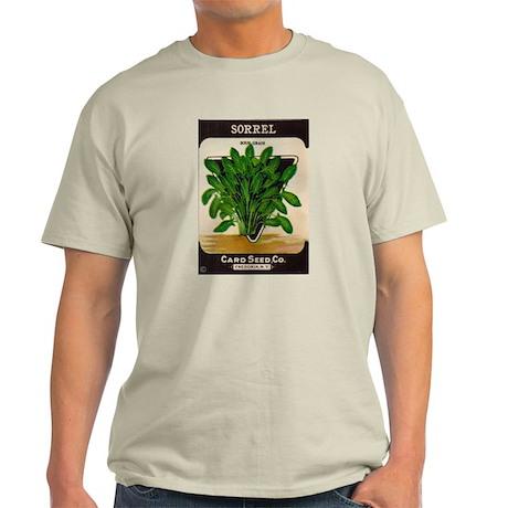 Antique Seed Packet Art Sorrel Ash Grey T-Shirt
