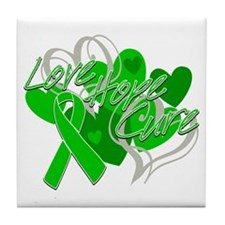 Spinal Cord Injury Love Hope Cure Tile Coaster