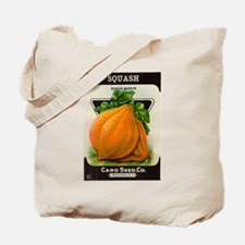 Antique Seed Packet Art Squash Tote Bag
