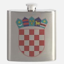 Croatia Hrvatska Emblem Flask