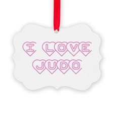I Love Judo Ornament