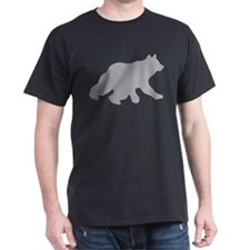 Gray Bear Cub Crossing Walking Silhouette T-Shirt