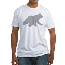 Gray Bear Cub Crossing Walking Silhouette Shirt