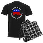 Wisconsin Republican Pride Men's Dark Pajamas