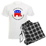 Wisconsin Republican Pride Men's Light Pajamas