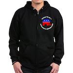 Wisconsin Republican Pride Zip Hoodie (dark)