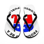 Wisconsin Republican Pride Flip Flops