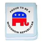 Wisconsin Republican Pride baby blanket
