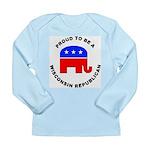 Wisconsin Republican Pride Long Sleeve Infant T-Sh