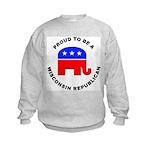 Wisconsin Republican Pride Kids Sweatshirt