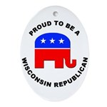 Wisconsin Republican Pride Ornament (Oval)