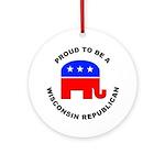 Wisconsin Republican Pride Ornament (Round)