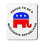 Wisconsin Republican Pride Mousepad