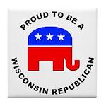 Wisconsin Republican Pride Tile Coaster
